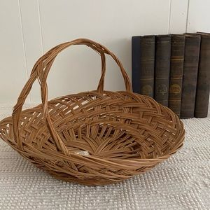 Vintage Accents - Vintage Boho Philippines Hand Woven Flower Basket